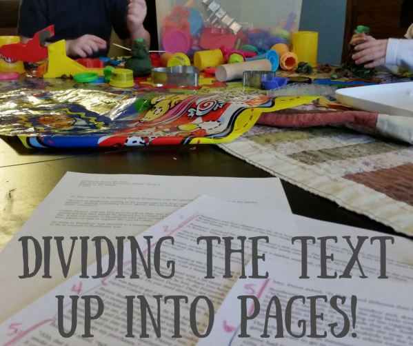 Dividing up pages!